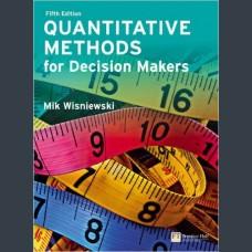 Mik Wisniewski Quantitative Methods for Decision Makers